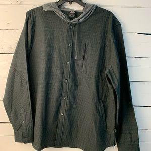 Oakley Thin Button up jacket/Hoodie Size XXL